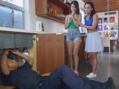 BANGBROS - Teen Lesbian Sluts Amara Romani And Izzye Belle Threesome