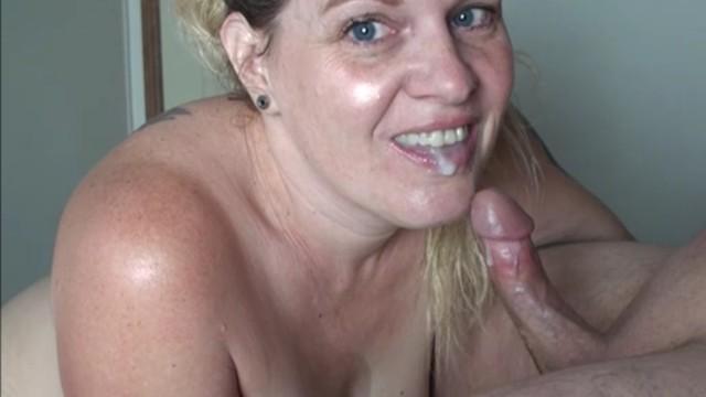 Wafcol cock Closeup sloppy blowjob throbbing oral creampie throatpie cumshot swallow