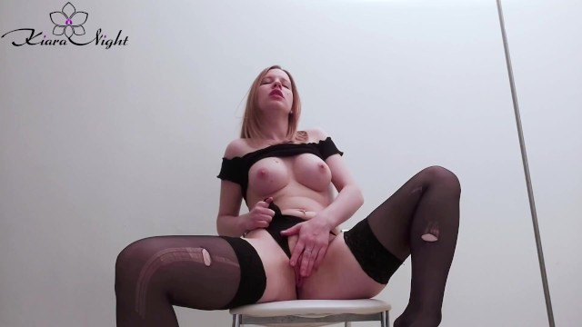 Cigarette lady nude sexy smoking Girl in stockings smokes a cigarette and masturbate pussy