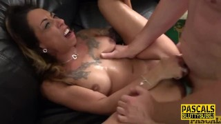 Fetish throating milf gets anally pounded