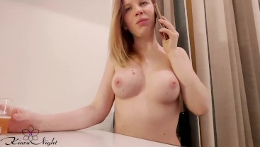 Babe Talking on the Phone with Lover and Masturbate Pussy