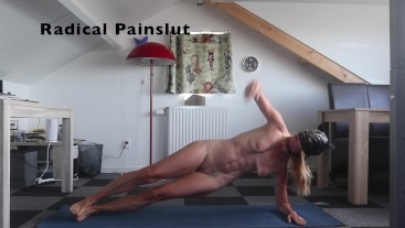 Naked Workout for Submissive BDSM Painslut (How to keep my body in shape)