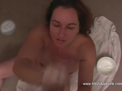 Harsh And Hasty Hand-job From Redhead Bbw Lovin' Session