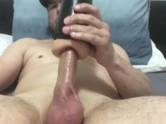 Aussie Guy Fucks Fleshlight while Moaning and Talking Dirty