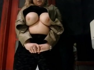 Roasting hot mommy outside massive knockers immense