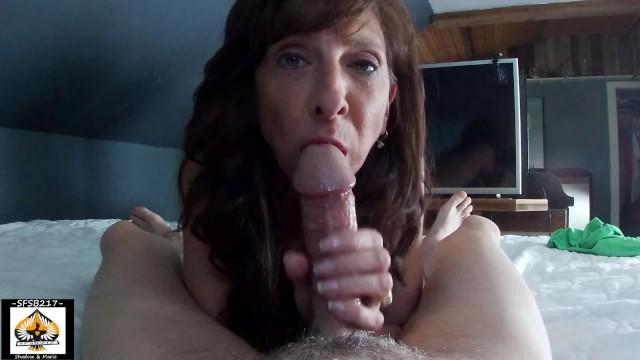 Beautiful hot mature Most beautiful granny sucks a big cock so wonderfully