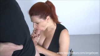 Big tit German MILF Angel Eyes best tit fuck