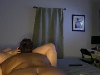 EBONY BBW SUCKING WHITE LESBIAN CLIT AND SHAKING ASS