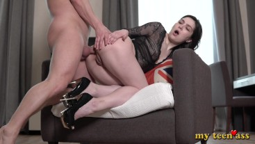 Teen Monica first day In porn - immediately fucked in the anal