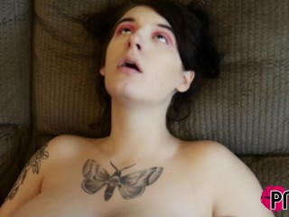 Pawg Davina Raines eats Tatted Submissive Baby G Sin's Slit
