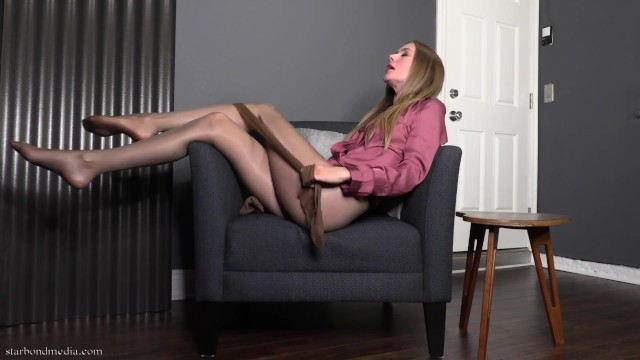 Pantyhose sexmovies Nylon denial - star nine pantyhose domination orgasm control full video