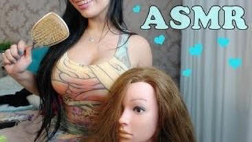 SFW [ASMR] Escovando os Cabelos | Brushing Hair | mexendo no cabelo |
