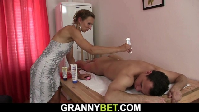Old hairy granny pussy Hairy mature masseuse takes it from behind