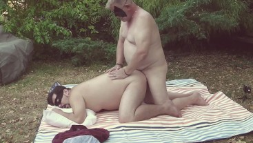 Making love to my German daddy. In the woods
