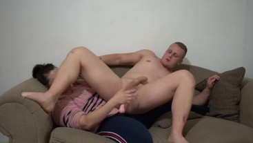 Femdom Pegging Strapon Riding Until Handsfree Cum