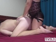 Femdom wife hard facesitting and pegging husband
