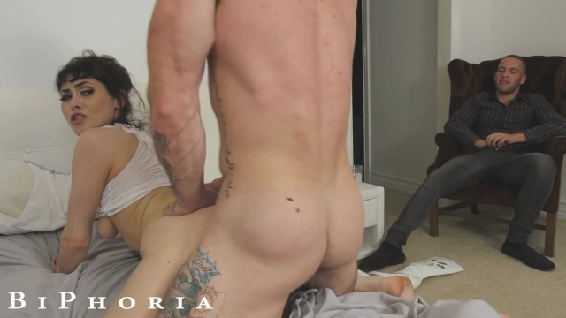 Swinger spanaway Biphoria - man joins couple fucking at swingers party