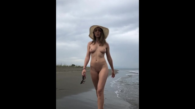 Ocean ridge amateur football club Naked model on beach
