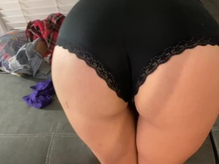 Brunette MILF Steals BFFs Panties and Gets Fucked in Them