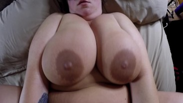 Big tan tits fucking cum on tits a little in eye