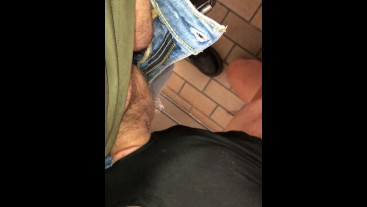 Would you knee in a public toilet and wait. This lad did.