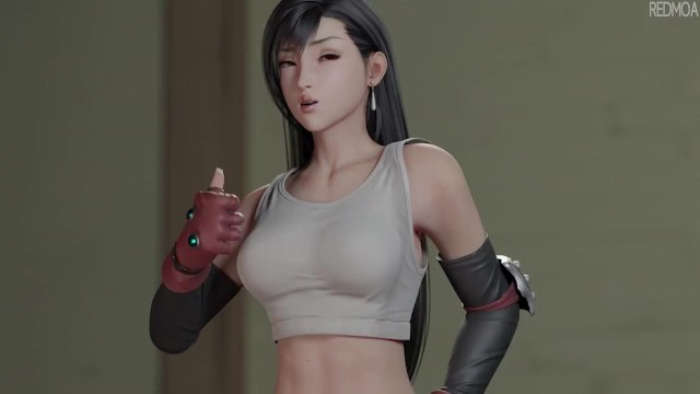 Baby refusing one breast Tifa one on one w/sound final fantasy