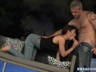 Chill after work with pornstar Jasmine Vega