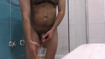 GG - Having an hot shower at hotel with piss and cum