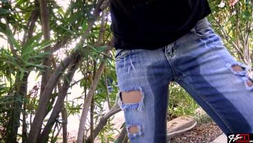 POV Outside Pissing Her Jeans