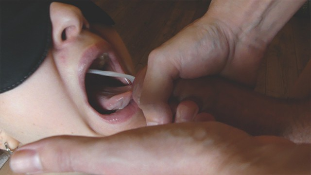 Fist size portion Slutty girl suck dick and got a portion of cum in mouth and plays with her