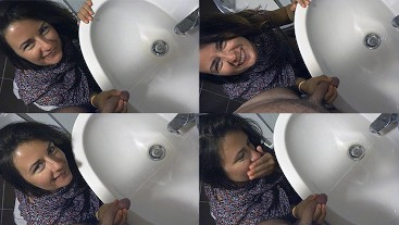 Sexy Camilla Moon helps me pee and pee yourself