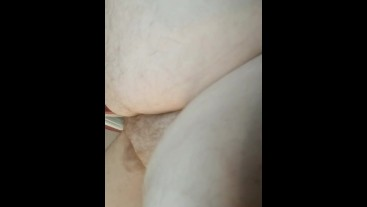 Fat man moaning and cumming for Victoria Wet