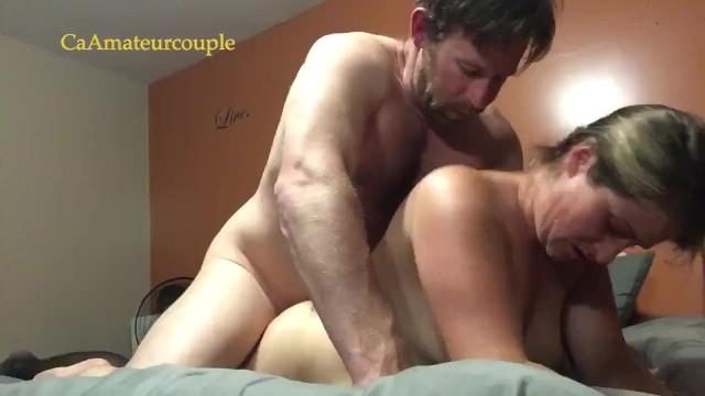 Quick orgasm Amateur milf get quick fuck on stomach cum shot on back