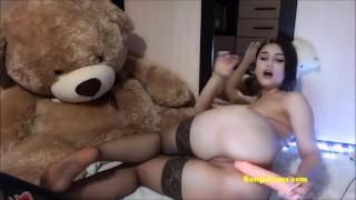 passionate bongacams teen in stockings fucks her booty – teen porn
