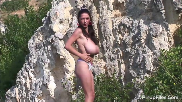 Monster tit merilyn Gourgeous busty model anya zenkova takes her top off at the beach