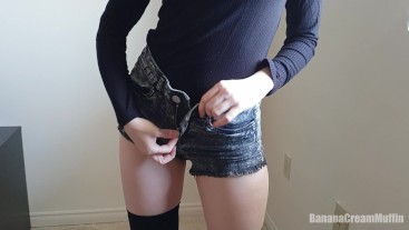 Goth girl strips and shows you her asshole