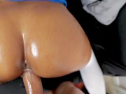 We Make a Fan's Fantasy a Reality! BJ w/Bent Over Pounding & Cum Filling