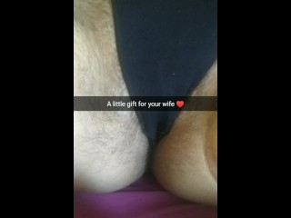 My virile cream-gift for your wife`s fertile pussy! [Snapchat. Cuckold]