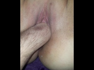 Boyfriend locked his cum with inflatable plug and let it filled for hour