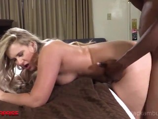Thick Blonde Torii Takes A Big Black Cock In Her Pink Plump Pussy!