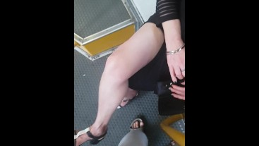 Flash caught bus touch ranny and flash big bulge tex silicon