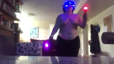 Chubby Girl Plays Beat Saber (Expert 3)