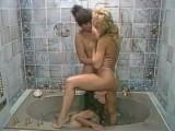 80s Lesbian Threeway In A Bathtub