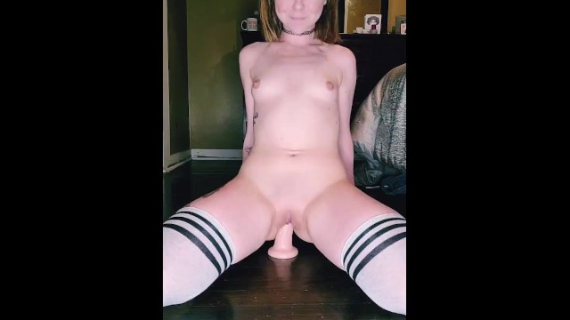 Suction dildo squirt free video Riding this dildo so hard it loses suction