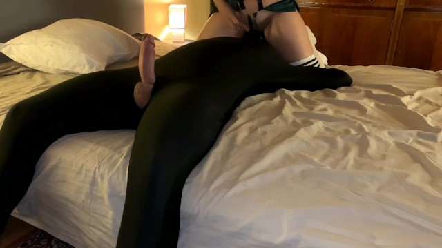 Interracial pets pussy licking Mistress teases pet and allows him to cum inside her