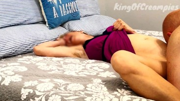 Sexy MILF orgasms from oral sex then gets a deep creampie from the King