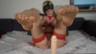 영화 포르노 - Jerk Off Instruction - Jerk Your Cock To My Nylon Feet And Cum All Over