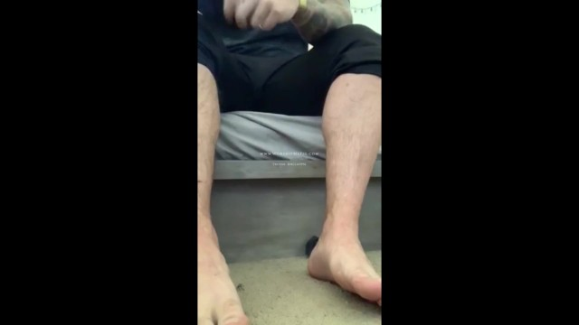 Army gay man naked Master clays large sexy army feet worshiped in black socks