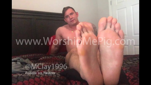 13 gay happening vol Master clay shows off his stinky massive size 13 feet verbally humiliates