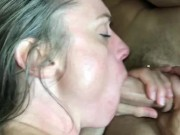 Petite Blonde DF'd JW MILF Gets a Shower and 2 Cocks Part 2